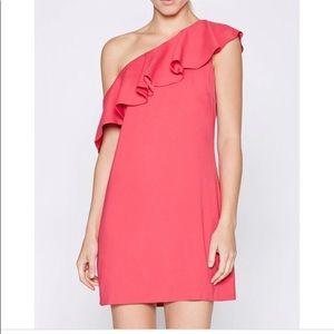 Joie bronwen ruffled one-shoulder dress